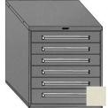 "Equipto 30""W Modular Cabinet 6 Drawers No Divider, 33-1/2""H, & Lock-Textured Putty"