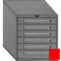 "Equipto 30""W Modular Cabinet 6 Drawers No Divider, 33-1/2""H, & Lock-Textured Cherry Red"
