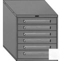 "Equipto 30""W Modular Cabinet 6 Drawers No Divider, 33-1/2""H, & Lock-Smooth Reflective White"