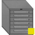 "Equipto 30""W Modular Cabinet 6 Drawers No Divider, 33-1/2""H, & Lock-Textured Safety Yellow"