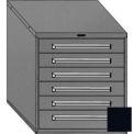"Equipto 30""W Modular Cabinet 6 Drawers No Divider, 33-1/2""H, Keyed Alike Lock-Textured Black"
