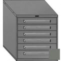 "Equipto 30""W Modular Cabinet 6 Drawers No Divider, 33-1/2""H, Keyed Alike Lock-Smooth Office Gray"