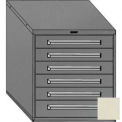 "Equipto 30""W Modular Cabinet 6 Drawers No Divider, 33-1/2""H, Keyed Alike Lock-Textured Putty"