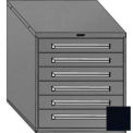 "Equipto 30""W Modular Cabinet 6 Drawers No Divider, 33-1/2""H, No Lock-Textured Black"