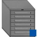 "Equipto 30""W Modular Cabinet 6 Drawers No Divider, 33-1/2""H, No Lock-Textured Regal Blue"