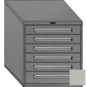 "Equipto 30""Wx33-1/2""H Modular Cabinet 6 Drawers w/Dividers, Keyed Alike Lock-Textured Dove Gray"