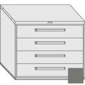 "Equipto 45""W Modular Cabinet 38""H 4 Drawers No Divider, & Lock-Smooth Office Gray"