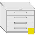 "Equipto 45""W Modular Cabinet 38""H 4 Drawers No Divider, & Lock-Textured Safety Yellow"