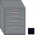"Equipto 45""W Modular Cabinet 38""H 5 Drawers No Divider, & Lock-Textured Black"