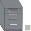 "Equipto 45""W Modular Cabinet 38""H 5 Drawers No Divider, Keyed Alike Lock-Textured Dove Gray"