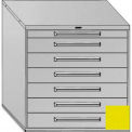 """Equipto 45""""W Modular Cabinet 44""""H, 7 Drawers No Divider, & Lock-Textured Safety Yellow"""