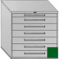 "Equipto 45""W Modular Cabinet 44""H, 7 Drawers w/Dividers, & Lock-Textured Evergreen"