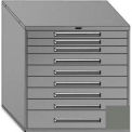 "Equipto 45""Wx44""H Modular Cabinet 9 Drawers No Divider, Keyed Alike Lock-Smooth Office Gray"