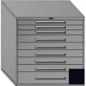 "Equipto 45""Wx44""H Modular Cabinet 9 Drawers No Divider, No Lock-Textured Black"