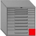 "Equipto 45""Wx44""H Modular Cabinet 9 Drawers No Divider, No Lock-Textured Cherry Red"