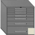 "Equipto 45""Wx44""H Modular Cabinet 7 Drawers No Divider, No Lock-Textured Putty"