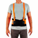 ProFlex® 100 Economy Hi-Vis Back Support, Orange, 3-X-Large