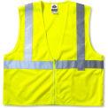 Ergodyne® GloWear® 8220Z Class 2 Standard Vest, Lime, 2XL/3XL