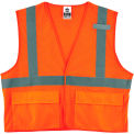 Ergodyne® GloWear® 8220HL Class 2 Standard Vest, Orange, 2XL/3XL