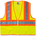 GloWear® 8229Z Class 2 Economy Two-Tone Vest, Lime, S/M