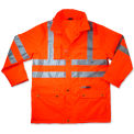 Ergodyne® GloWear® 8365 Class 3 Rain Jacket, Orange, 5XL