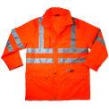 Ergodyne® GloWear® 8365 Class 3 Rain Jacket, Orange, 5XL