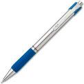 Paper Mate® Ballpoint Retractable Pen, Medium, Stainless Steel Barrel, Blue Ink