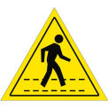 "Durastripe 12"" Triangular Sign - Pedestrian Crossing No Text"