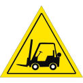 "Durastripe 12"" Triangular Sign - Forklift Caution No Text"