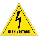 "Durastripe 12"" Triangular Sign - Caution High Voltage"