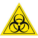 "Durastripe 12"" Triangular Sign - Caution Biohazard"