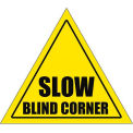 "Durastripe 12"" Triangular Sign - Caution Slow Blind Corner"