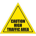 "Durastripe 32"" Triangular Sign - Caution High Traffic Area"