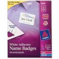 "Avery® Adhesive Name Badge Labels, 2-1/3"" x 3-3/8"", White, 160/Box"