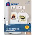 """Avery® Light T-Shirt Transfer, 8-1/2"""" x 11"""", Matte, White, 18 Sheets/Pack"""