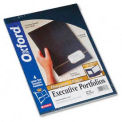 Oxford Monogram Embossed Executive Portfolio, Blue/Gold Foil, 4/Pack
