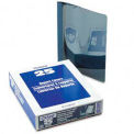 Clear Front Report Covers With Dark Blue Leatherette Back, 25 Per Box