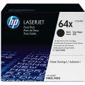 HP® HP 64X, (CC364XD) 2-pack High Yield Black Original LaserJet Toner Cartridges