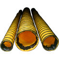 """Euramco Safety 16"""" Standard Duct - Yellow, 15'L with Strap FDT1615BR"""