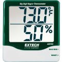 Extech 445703 Big Digit Hygro-Thermometer, Green/White, 445703, Wall Mount, AAA battery