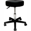 """Pneumatic Mobile Stool Without Back, 18"""" - 22""""H, Black"""