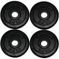 Iron Disc Weight Plates, 10 lb. Set (4 x 2.5 lb. Weights)