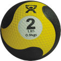 "CanDo® Firm Medicine Ball, 2 lb., 8"" Diameter, Yellow"