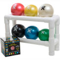 "2-Tier Ball Rack For WaTE™ Weighted Balls, Holds 6 Balls, 18""L x 6""W x 12""H"