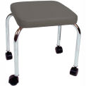 """Mobile Treatment Stool, 14"""" Square Top, 18"""" Height, Gray"""