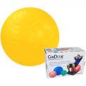 "CanDo® Inflatable Exercise Ball, Yellow, 45 cm (18""), Retail Box"