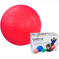 """CanDo® Inflatable Exercise Ball, Red, 75 cm (30""""), Retail Box"""