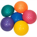 """CanDo® Inflatable Balance Stone, 17.5 cm (7"""") Diameter, Colors Vary, Set of 6"""