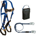FallTech® 9005PS Starter Kit with 7015 Harness, 6' Shock Absorbing Lanyard & Gear Bag