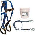 FallTech® 9500Z Starter Kit with 7015 Harness, 6' Shock Absorbing Lanyard & 2-Gallon Bucket